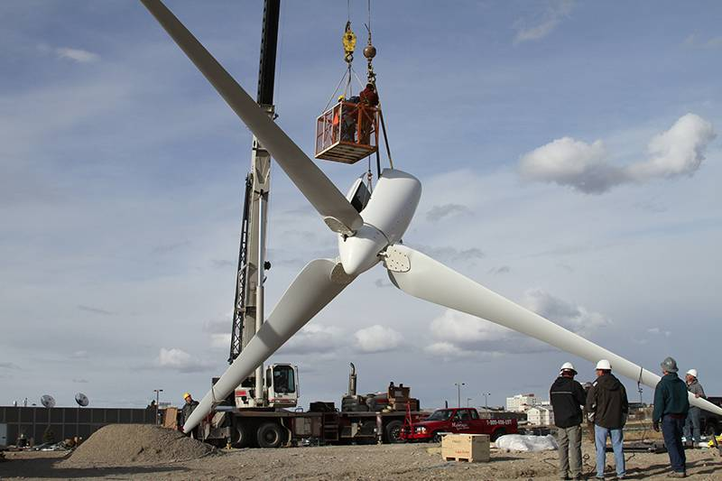 The GFC MSU wind turbine.