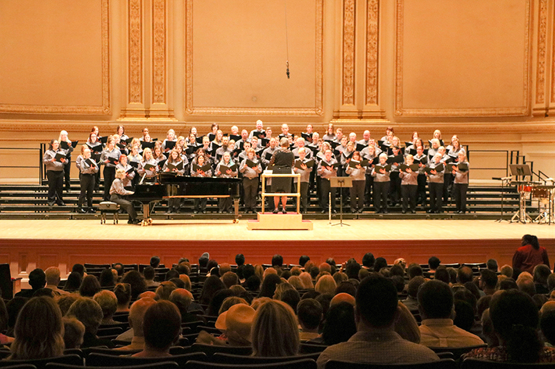 The GFC MSU Community Choir performs at Carnegie Hall in NYC.